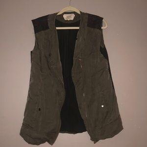 Zara army green vest